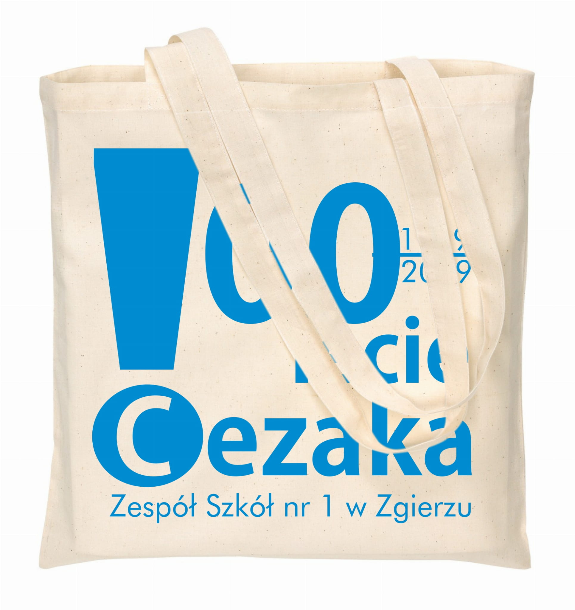 torby bawełniane ecru z nadrukiem 1 kolor