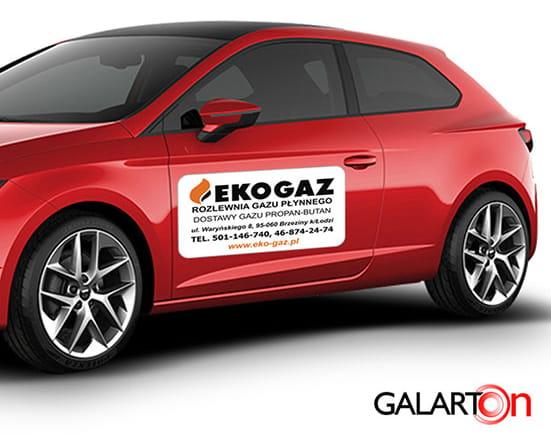 Magnesy reklamowe na samochód - komplet